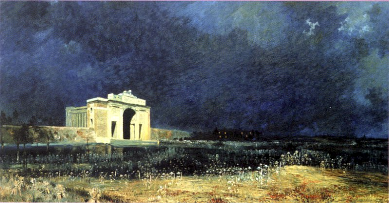 Menin Gate at midnight (1927) by Will Longstaff (Australian War Memorial/ Wikipedia commons)