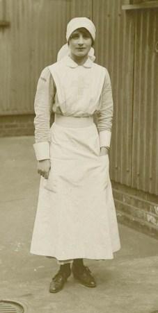 Vera Brittain when a VAD nurse.