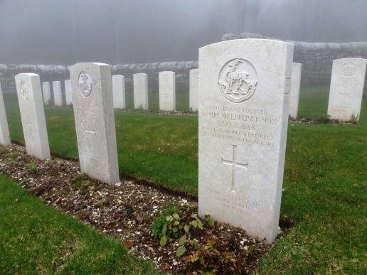 Grave of Lt Col J M Knox, Granezza British Cemetery.
