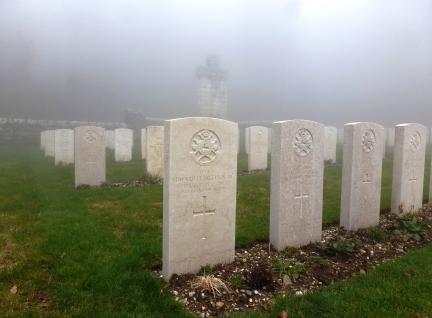 Edward Brittain's grave, Granezza British Cemetery