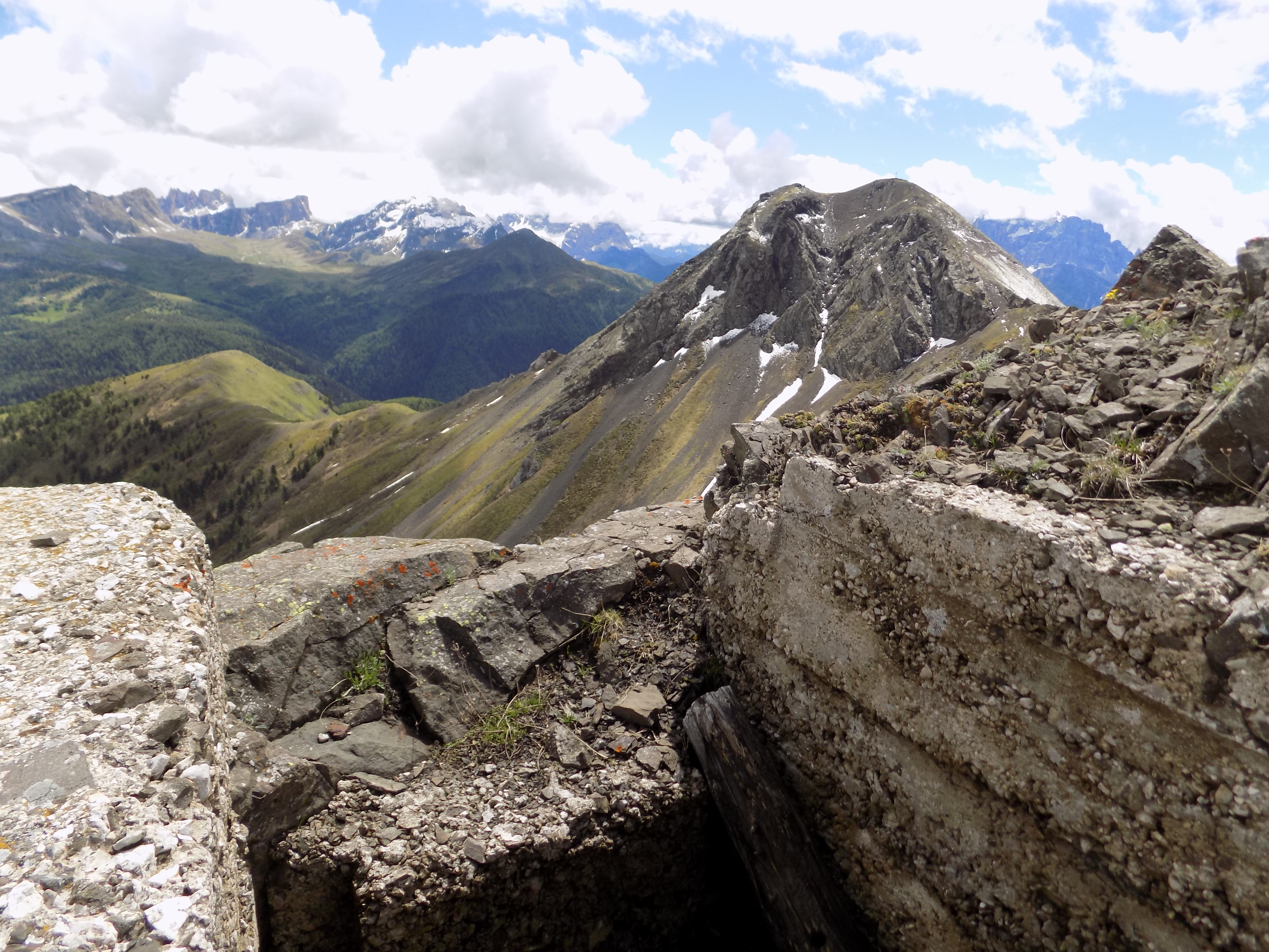 Austrian positions, Monte Sief view to Col di Lana
