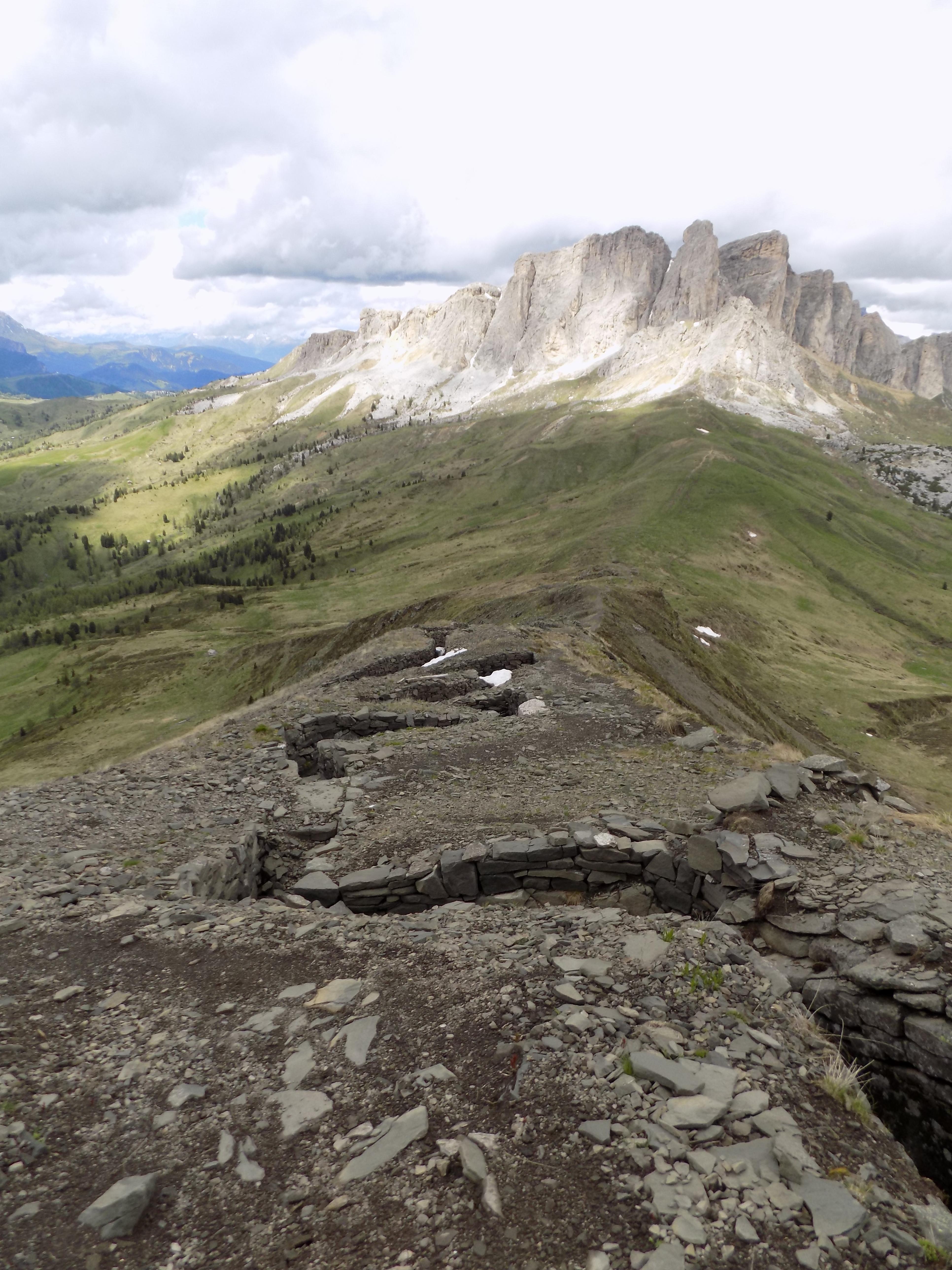 Austrian positions Monte Sief view to Setas