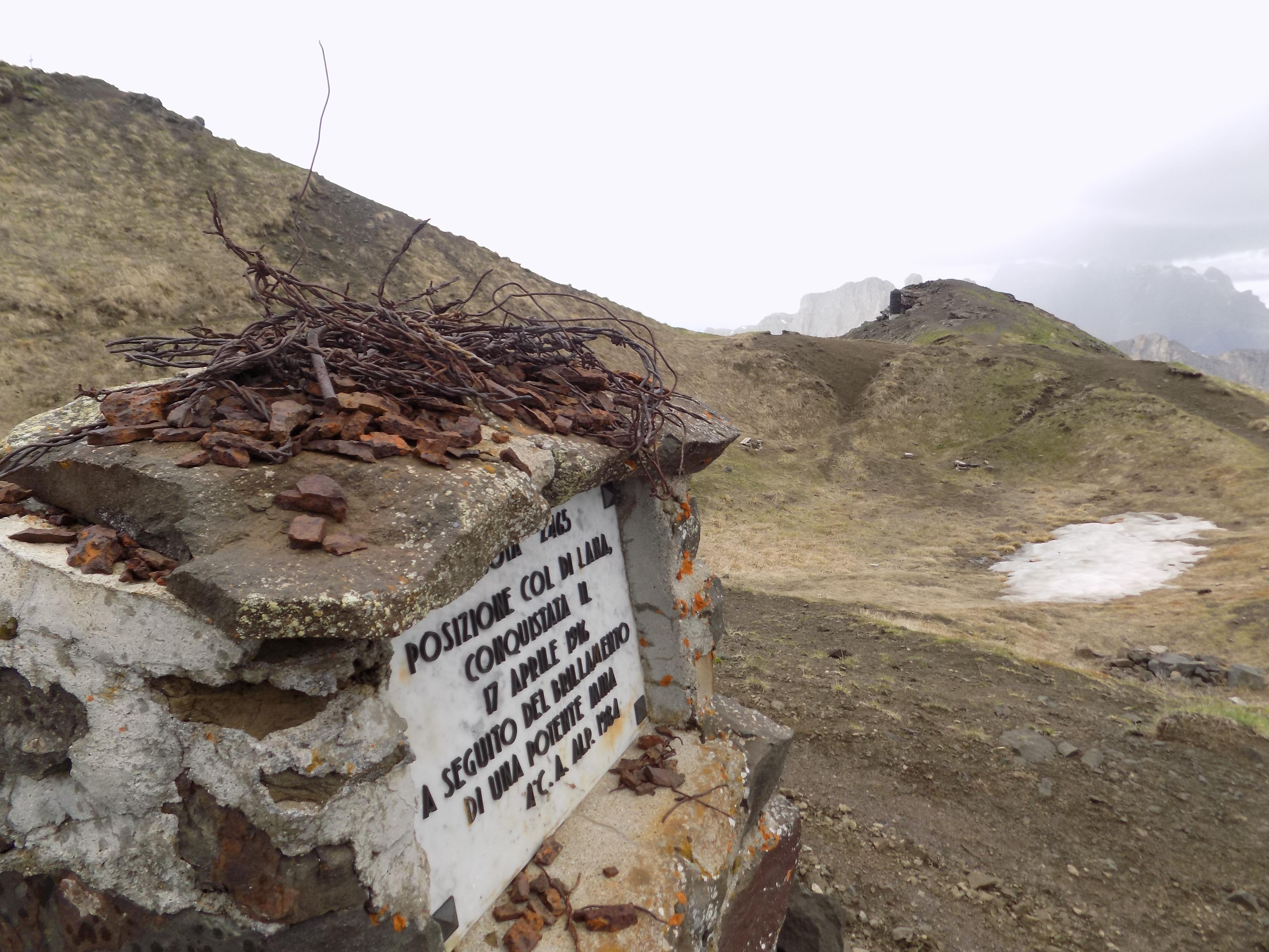 Col di Lana crater of 17 April 1916