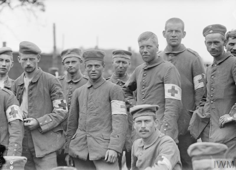 German medical orderlies captured in the Battle of Messines, 8th June 1917. © IWM (Q 2284)
