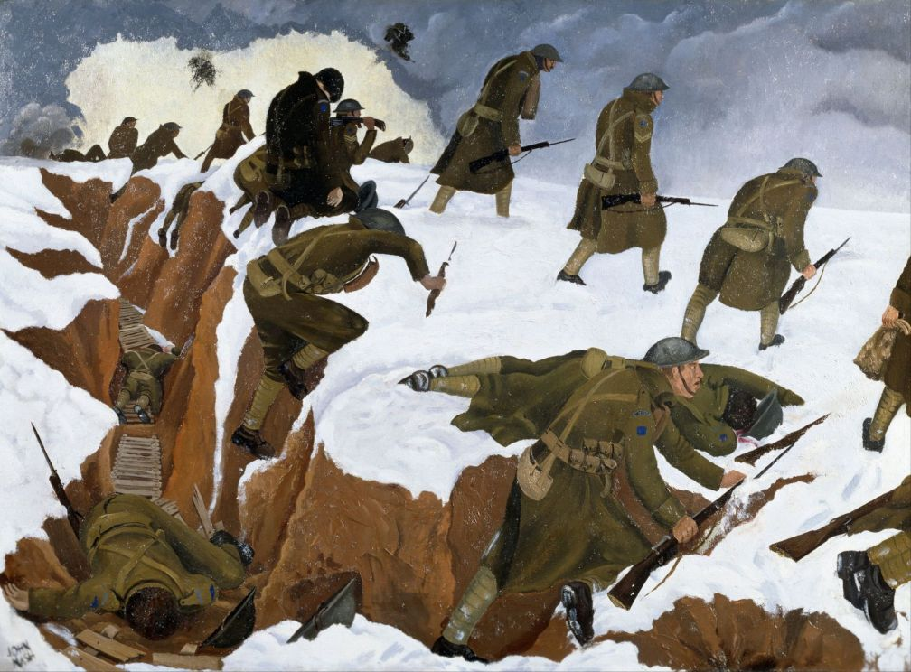 Nash,_John_(RA)_-_'Over_The_Top'._1st_Artists'_Rifles_at_Marcoing,_30th_December_1917_-_Google_Art_Project-Res50