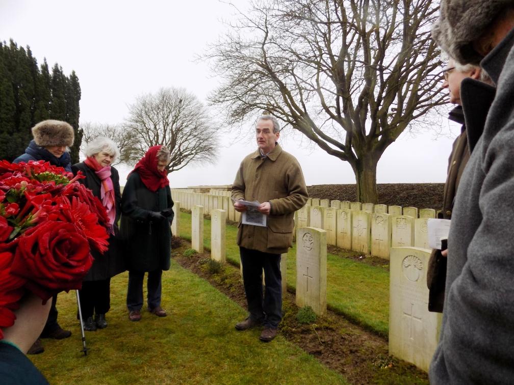 Battlefield tour cemetery