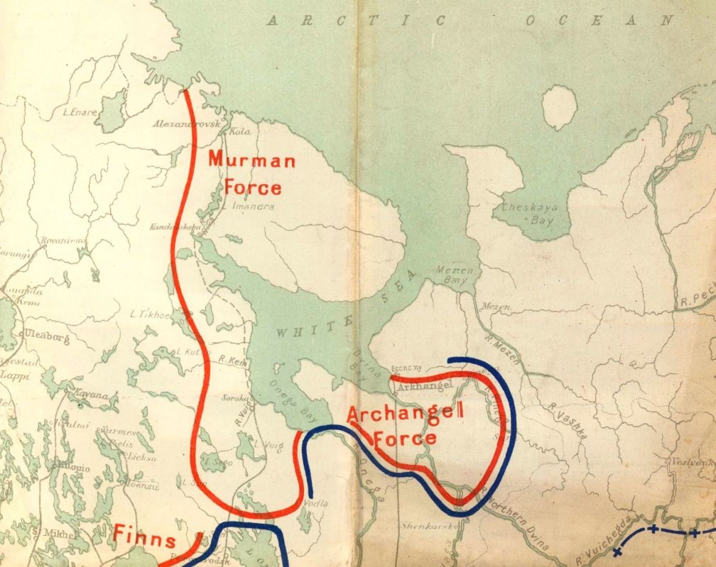 Map of European Russia Showing Railways Waterways Situation in Russia from Information Received up to Aug 12th 1919-macrepo_4080-crbr
