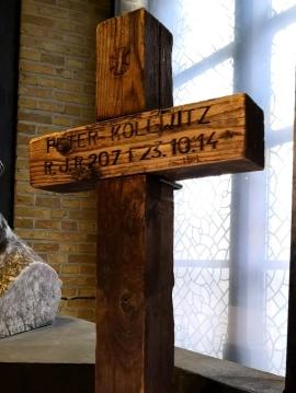 Peter Kollwitz grave marker, In Flanders Fields Museum